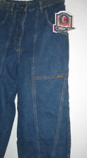 NEW misses 8 blue JEANS w/tag CHEROKEE 100% cotton pants denim