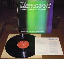 LP RISONANZE 1 (Paoline 79) Italian xian electro library Macchi Morricone ins EX