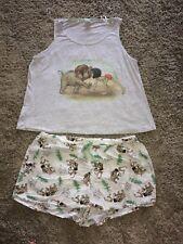 DISNEY ladies Two Piece Pyjama Set Vest & Shorts THE JUNGLE BOOK size 20-22
