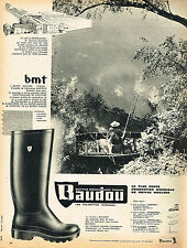 PUBLICITE ADVERTISING 025  1962  Les  bottes BAUDOU les églisottes