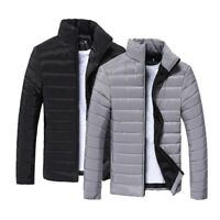 Men'S Down Jacket Collar Thickened Warm Zip Up Winter Outwear Casual Coat M-3Xl