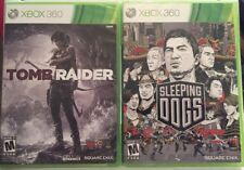 NEW - Sleeping Dogs & Tomb Raider Xbox 360 Lot Of Top Rated Games!!