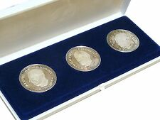 Medaille Set Gasperi Schuman Adenauer Libertas Justitia Pax 3x 25g Silber PP