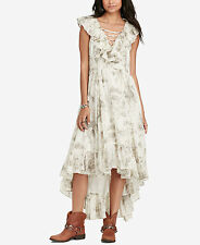 Denim & Supply Women's New Climbing Rose Floral Print Ruffled Wrap Dress Size S