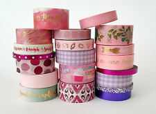 Lot of 20 PINK PURPLE washi tape glitter gold foil recollections planners
