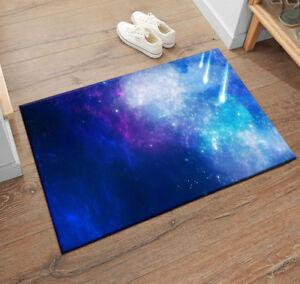 Starry Sky Space Stars Moon Area Rugs Bedroom Rug Kitchen Living Room Floor Mat