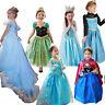 Girls Elsa Frozen dress costume Princess Anna party dresses cosplay XMAS!!!
