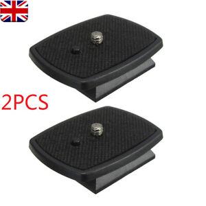 2X Black Tripod Quick Release Plate Screw Adapter Mount Head For DSLR SLR Camera