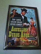 "DVD ""AQUELLOS DUROS AÑOS"" COMO NUEVO RUDOLPH MATE TONY CURTIS COLLEEN MILLER"