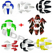 CRF70 Plastic Fairing + Graphics Sticker for Atomik Coolster 70cc 125cc Pit Bike