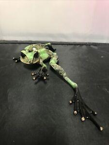 "FROGMAN Tim Cotterill 709/2000 Signed bronze Frog 10.5"" Art 1998?"