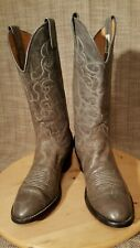 NOCONA GREY LEATHER WESTERN COWBOY BOOTS STYLE L505 EXCELLENT USED SIZE 6.5B