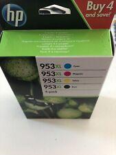 HP 953XL de alto rendimiento de los cartuchos de tinta Negro/Cian/Magenta/Amarillo-Paquete de 4.