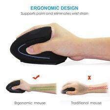 Wireless Mouse Ergonomic Optical 2.4G 800/1200/1600DPI Healing Vertical Mice