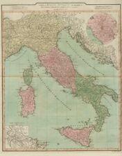 """""""Tabula Italiae Antiquae geographica quam…"""" Ancient Italy. D'ANVILLE 1815 map"""