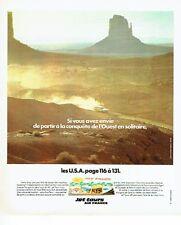 PUBLICITE ADVERTISING 037  1975  Jet Tours Air France  USA la conquete  l'Ouest