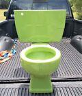 Vintage Green Kohler Two-Piece Toilet 1973 Mid Century Modern