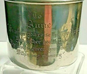 Antique Gorham Sterling Silver Baby Child Cup # 224 * Anne * with Poem