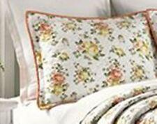 ONE Martha Stewart  Rose Cottage Standard Pillow sham White Floral NEW