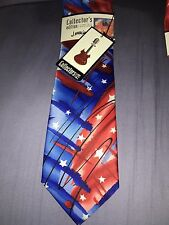 """Jerry Garcia BNWT Men's Abstract Tie """"New York At Night & Collectors Pin"""""""