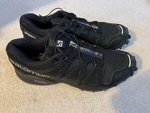 Salomon Speedcross 4 men's running trainers in black - size 6.5 - boxed