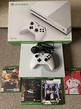 Microsoft Xbox One S 1TB Console - White Plus 4 Games