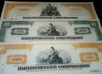 LOT(S) of 100 HARNISCHFEGER STOX @ 50c!! #1 MINING EQUIPT CO! JOY GLOBAL/KOMATSU