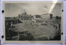schönes Wandbild St.Petersplatz in Rom Petersdom Vatikanstadt 92x64 ~1950 Papst