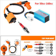 Racing CDI 5 Pin + Ignition Coil +Spark Plug for 50-160cc 4-Stroke ATVs Scooter