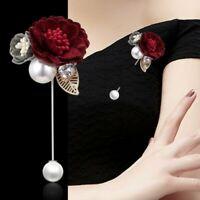 Women Men Rose Flower Brooch Lapel Suit Pin Wedding Party Fashion Accessories