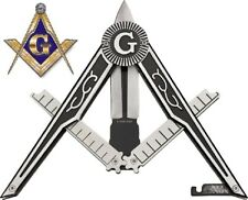 "9"" Masonic Pantographic Folding Knife - Free Mason Gift"