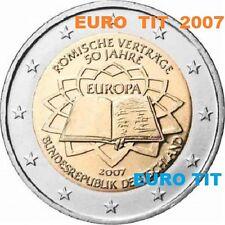 2  €   ALLEMAGNE    PIECE  NEUVE    TRAITE  DE  ROME     2007   /    ASSEZ  RARE