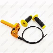 CNC Aluminum Twist Throttle Grips Cable For Suzuki RM 80 85 125 250 Dirt Bike