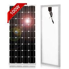 100W Monocrystalline Solar Panel for 12v Car Battery/RV/Solar Generator/Phone