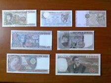 Riproduzione Banconota 500-1000-5000-10000-20000-50000-100000 Lire Italiane 1974