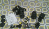 PENTAX K-50 16.3MP Digital Camera Bundle with Accessories!! Nice Lot