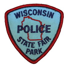 """WISCONSIN STATE FAIR PARK POLICE WI Sheriff Police Patch VINTAGE OLD MESH 4"""" USE"""