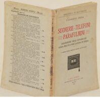 UMBERTO ZEDA SUONERIE TELEFONI PARAFULMINI TELEPHONE PHONES ELETTRICITA 1921