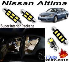 7pcs Super Fit Nissan Altima 2007-2012 White 5630 LED SMD Interior Light Kit