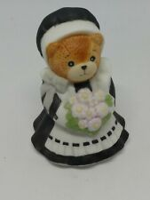 Vintage Lucy & Me Bear-Enesco-1990 Small Pilgrim With Flowers - L92