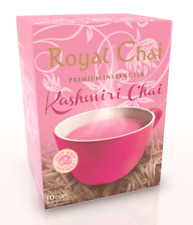 Royal Chai Traditional Kashmiri Pink Tea Instant Sachets Powder Sweetened Chaii