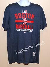 Majestic Boston Red Sox Gray Tee Shirt T-Shirt Men's XL Extra Large MLB Licensed