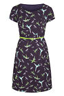 New ex Bravissimo Pepperberry Hummingbird Fit & Flare Tea Dress Sizes 8 - 18