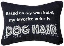 Based on My Wardrobe My Favorite Color is Dog Hair Rectangle Throw Pillow USA
