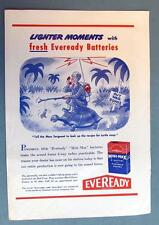 Original 1944 Eveready  Ad Lighter Moments -  RECIPE FOR TURTLE SOUP