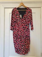 Ladies Lovely M&S Collection Multi Patterned Dress Size 18