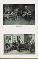 Dancing-TARANTELLA (Vinea) & ARKANSAW TRAVELER (Frost)-1925 Music History Prints