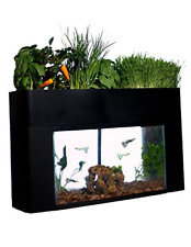 Self Sustaining Aquarium Aquaponics Garden Kit Fits 10 Gallon Aquarium Black New