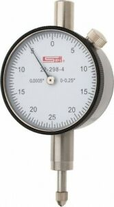 """22-298-4 SPI Deluxe Dial Indicator 0.250"""" Range 0.0005"""" Graduation AGD Group 1"""