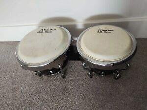 Good condition used Black Bongo drums from Tone Deaf Music